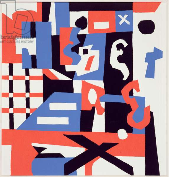 Study for a drawing (printer's proof) 1955 (screenprint)