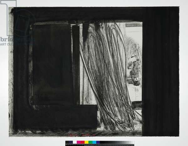 Early Evening in the Museum of Modern Art, 1979 (soft-ground etching, hand colouring in black gouache, on grey bFK mould-made paper)