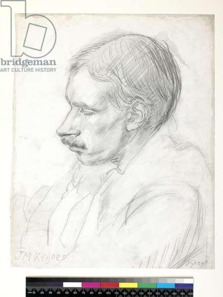 John Maynard Keynes, c.1908 (pencil with grey wash on paper)