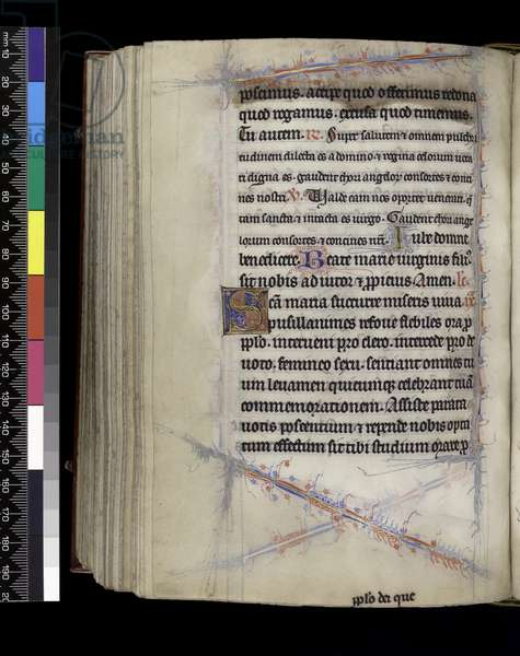 MS 300 f.189v, Matins, from the Psalter and Hours of Isabella of France, Paris, c.1265-70 (pen & ink and tempera on parchment)