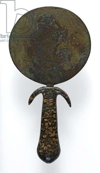 Mirror (bronze & stone)