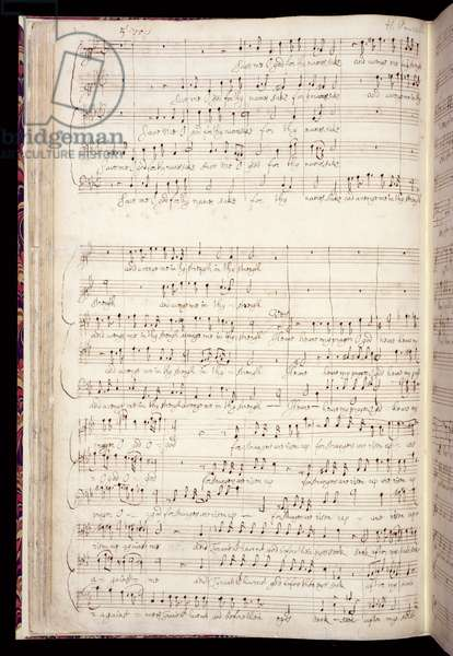 Mu Ms 88, f.27v: 'Save me O God', from an anthology of English anthems in the composer's own hand, c.1670-80 (ink on paper)