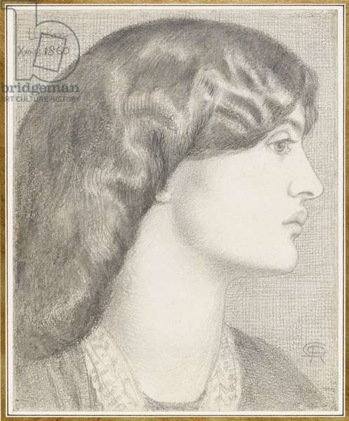 Mrs William Morris, 1860 (pencil on paper)