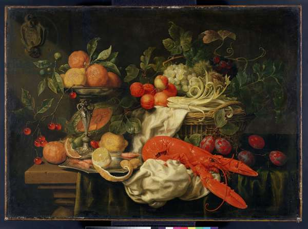 Still Life with Lobster, 1660 (oil on canvas)