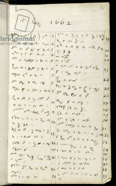 Ms 1-1936 f.3r  Page from a notebook, c.1665-68 (ink on paper)