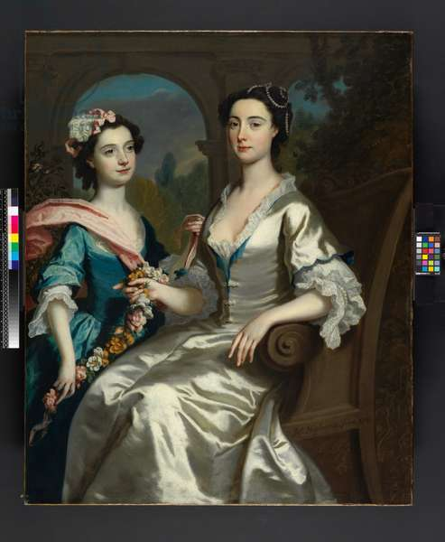 Mrs Elizabeth Birch and Her Daughter, 1741 (oil on canvas)