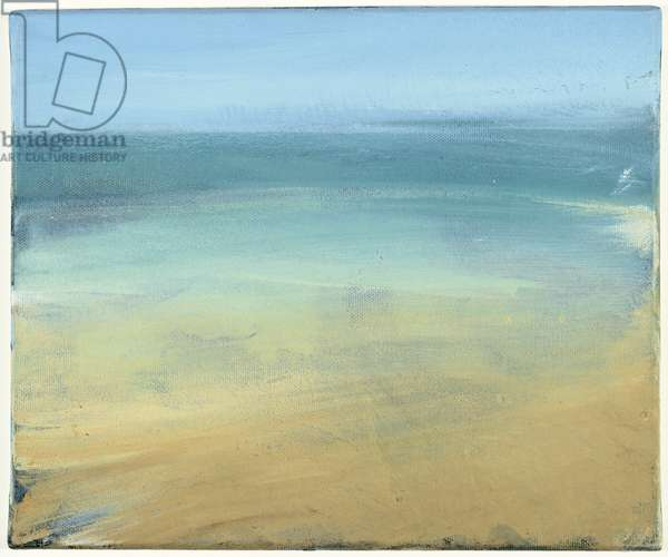 Study for 'The Estuary', c.1990 (oil on canvas)