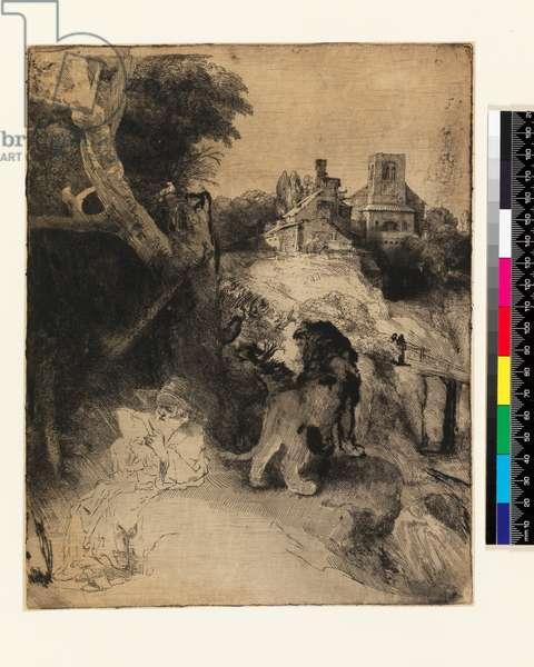 AD.12.39-376 St. Jerome in an Italian landscape