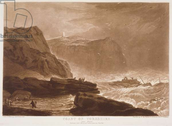 F.24.I Coast of Yorkshire, from the 'Liber Studiorum', engraved by William Say, 1811 (etching)