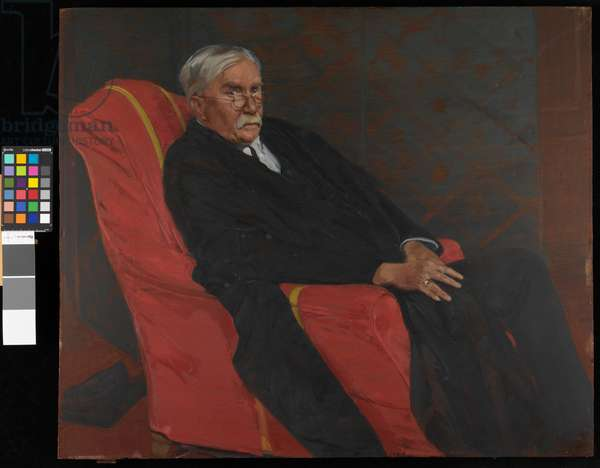 Portrait of Dr. A.C. Benson, 1924 (oil on panel)