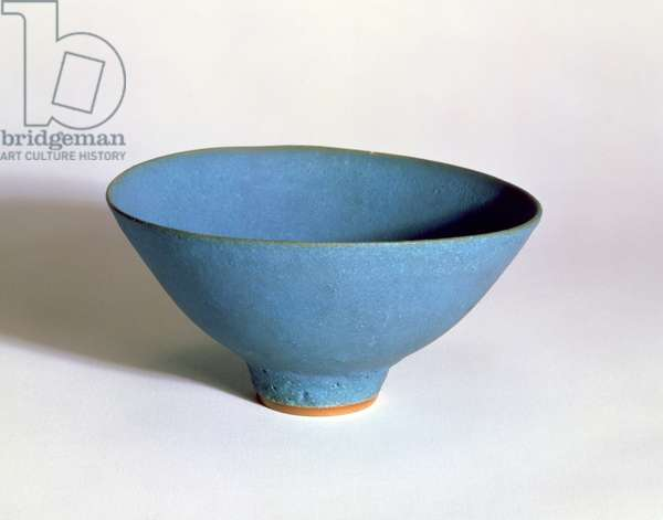 C.33-1972 Turquoise Bowl by Lucie Rie (1902-96) c.1965-70 (stoneware)
