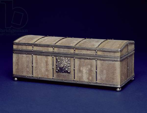 M/P.2-1944 Box, probably for cigarettes made by John Paul Cooper, 1932 (cedar wood, shagreen cover, silver mounts)
