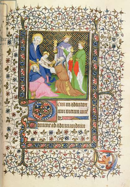 MS.McClean.80.f69r Adoration of the Magi, French Horae, 15th century (vellum)