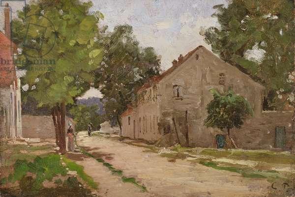 Route de Port-Marly, c.1860-67 (oil on canvas)