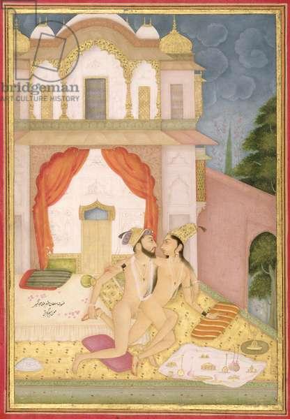 The private pleasure of Prince Khurram, son of Jahangir, by Bhim Gujarati, Bikaner, Rajasthan, Rajput School, c.1678-98, (gouache on paper)