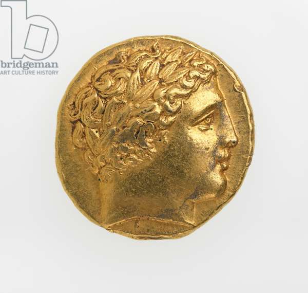 Obverse of a stater of Philip II of Macedonia, 359-336 BC (gold)