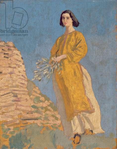 The Yellow Dress, c.1912 (oil on panel)