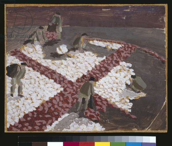 Making a Red Cross, c.1919 (oil over pencil on paper)