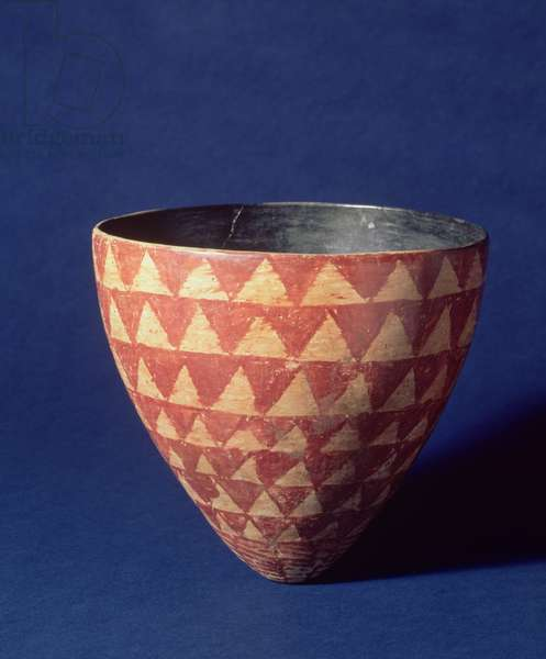 Nubian Bowl, A-Group Culture, c.3000 BC (Nile Clay, painted and burnished)