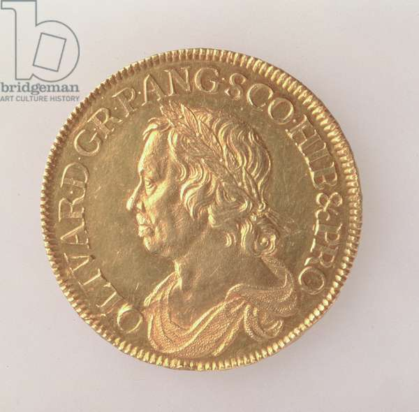 Crown of Oliver Cromwell (1599-1658), London Mint, 1658 (obverse) (gold) (for reverse see 168064)
