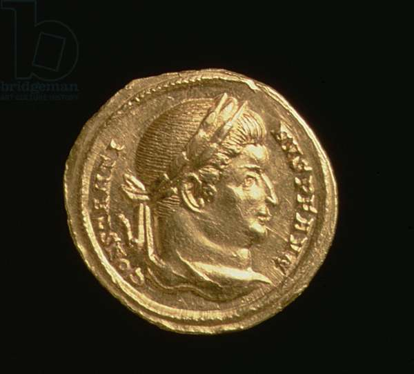 Aureus of Constantine the Great (AD 306-37) Emperor of Rome, Trier Mint, AD 306-37 (obverse) (gold)