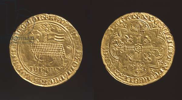 Wenceslas (d.1383) and Joanna (d.1406), Duke and Duchess of Brabant (from 1356), a gouden lamb of their second coinage, c.1362-71 (gold)