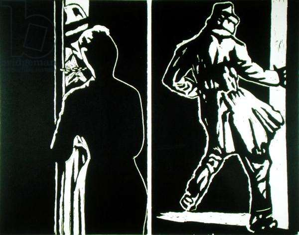 Double Trouble Artists proof 6/9, 1983 (woodcut)