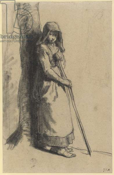 Study for 'Bergère au repos' (crayon on paper)