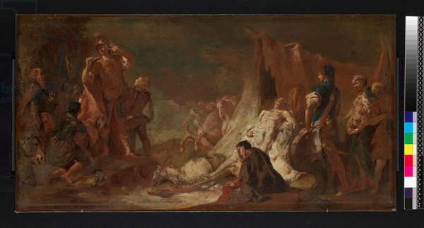 The death of Darius, before 1745 (oil on canvas)