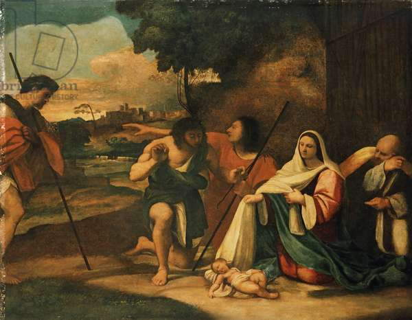 Adoration of the Shepherds, Pre-conservation, 1510 (oil on canvas)