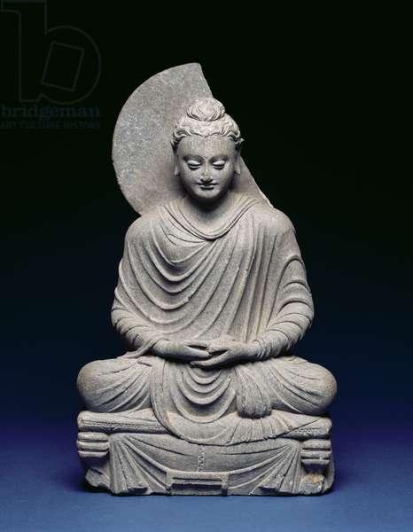 Seated Buddha, Gandhara, 1st-3rd century AD (schist)