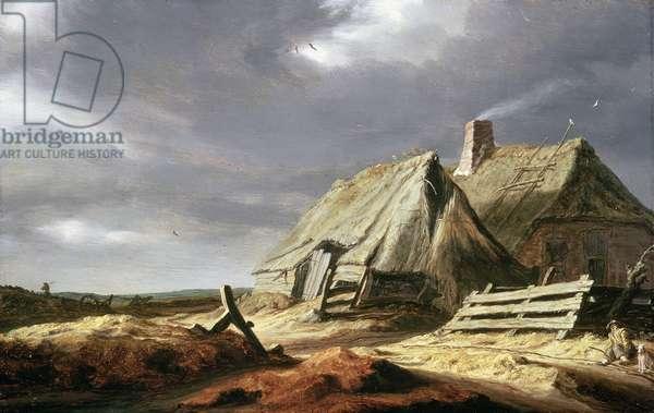 Farm Buildings in a Landscape, c.1625-28 (oil on panel)