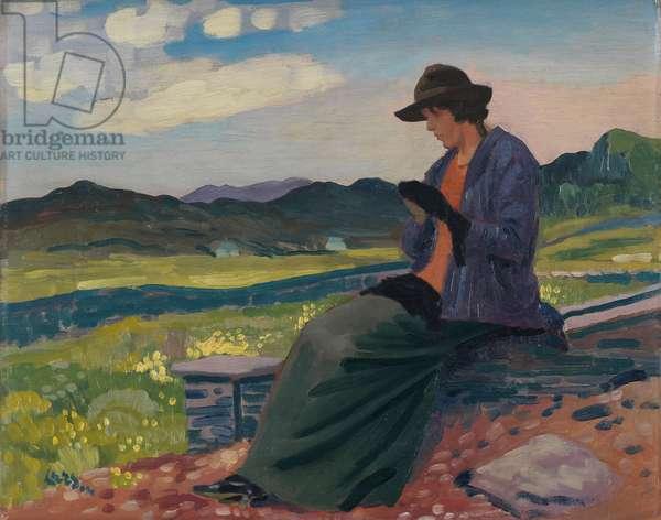 Lyndra in Wales, 1910-14 (oil on panel)