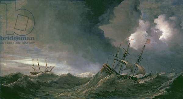 Storm at Sea (oil on canvas)