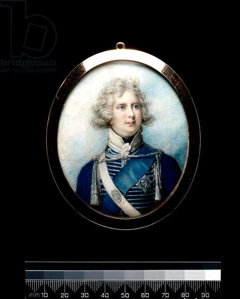 George IV as Prince Regent, c.1790 (w/c on ivory)