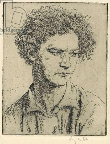 Jacob Epstein, sculptor. No. I., c.1905 (etching)