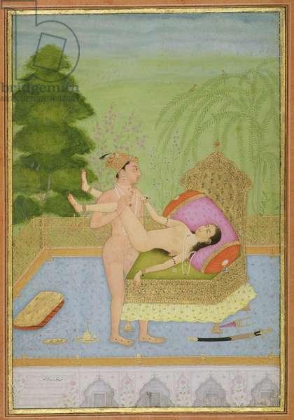 The private pleasure of Prince Muhammad Shah, Bikaner, Rajasthan, Rajput School, c.1678-1698, (gouache on paper)