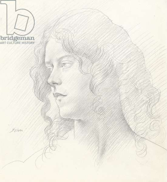 Portrait of Mrs Derwent Lees, 1910 (graphite on paper)