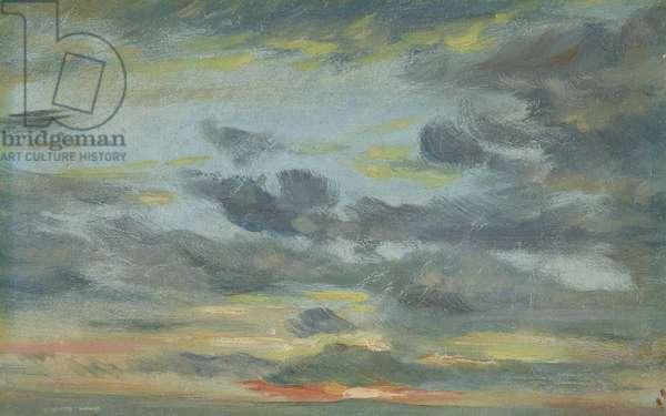Sky Study, Sunset, 1821-22 (oil on paper)