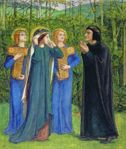 No.2292 The Salutation of Beatrice in Eden, 1850-54 (w/c)
