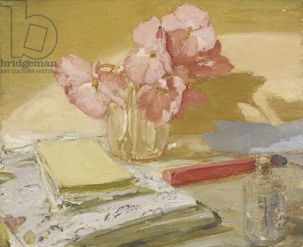 Begonias, 1939-40 (oil on panel)