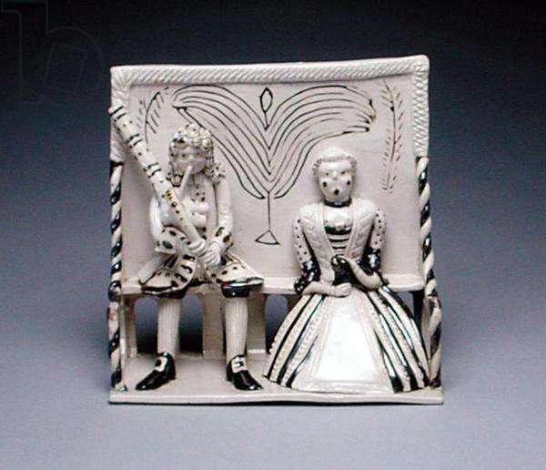 Pew Group, Staffordshire, c.1745 (salt-glazed stoneware)