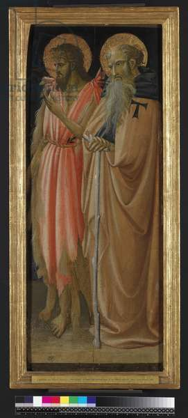 St John the Baptist and St Anthony Abbot (tempera & gold on panel)