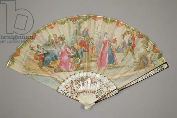 Folding Fan, possibly Venetian, c.1720