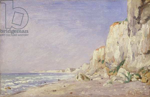 Cliffs near Dieppe, 1862 (oil on canvas)