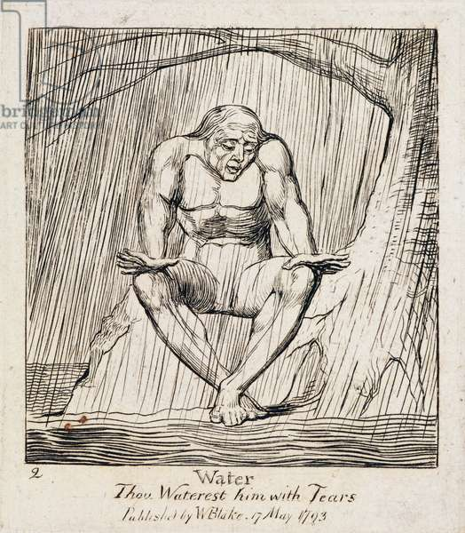 P.438-1985 Water, thou waterest him with tears, plate 2 of 'The Gates of Paradise', 1818-25 (line engraving)