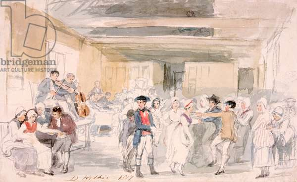 Study for 'Penny Wedding', 1817 (w/c on paper)