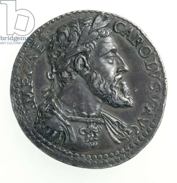Testone of Charles V (1500-58) Duke of Milan, engraved by Dye, 1535-56 (obverse) (silver) (for reverse see 168055)