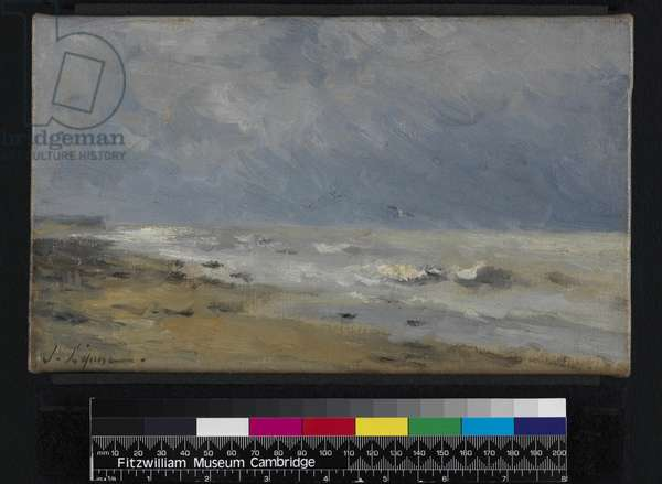 The Coast of Normandy (oil on canvas)