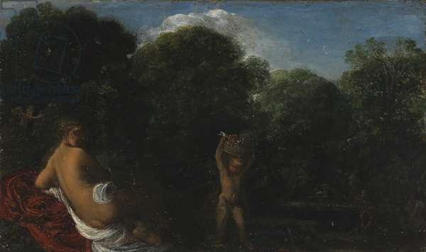 Venus and Cupid, 1600-05 (oil on copper)